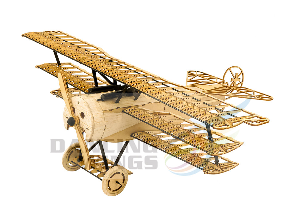 Balsa bois Fokker DRI avion modèle Woodcraft Construction Kit 3D en bois Puzzle bricolage jouet pour adultes petit ami cadeau d'anniversaire