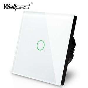 Image 2 - Manufacturer Wallpad EU Standard 1 Gang 2 Way 3 Way Control White Wall Light Touch Screen Switch Glass Panel, Free Shipping
