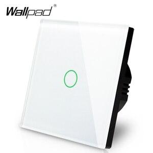 Image 2 - Wallpad Panel de vidrio de Interruptor táctil con pantalla táctil, Panel de Control de Vía Blanca, 1 entrada y 3 vías, estándar europeo, envío gratis