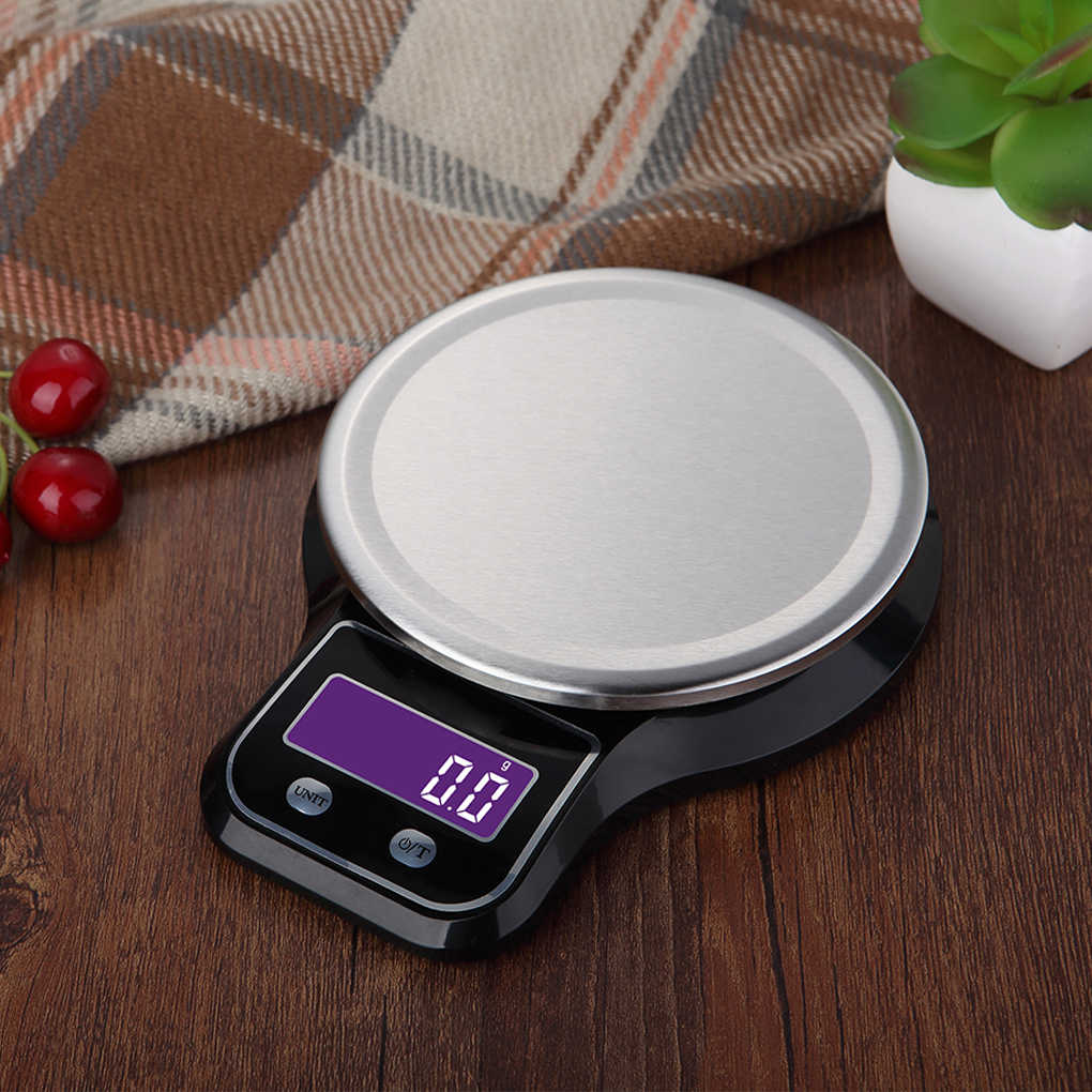 5kg/ 1g Electronic Kitchen Scales Portable LCD Digital Food Diet Scale Tea Balance Weight Tool