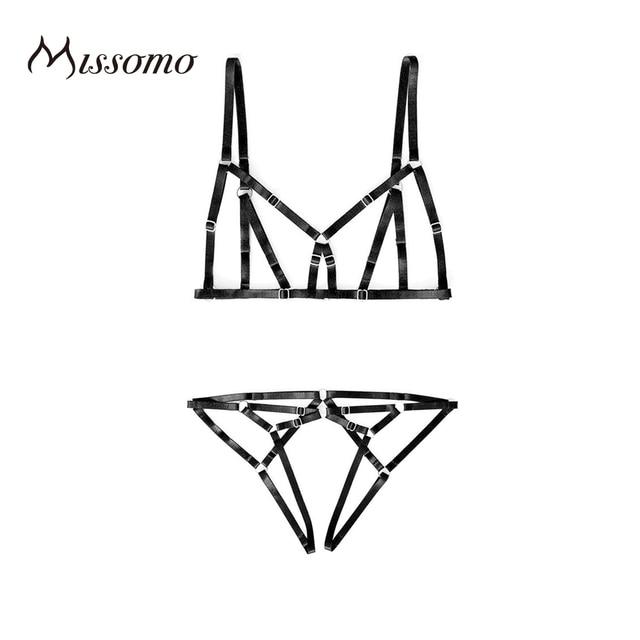 Missomo 2017 новые моды для женщин черный сексуальный push up cross назад регулируемый ремешок bralette underwear мягкие трусики нижнее белье наборы