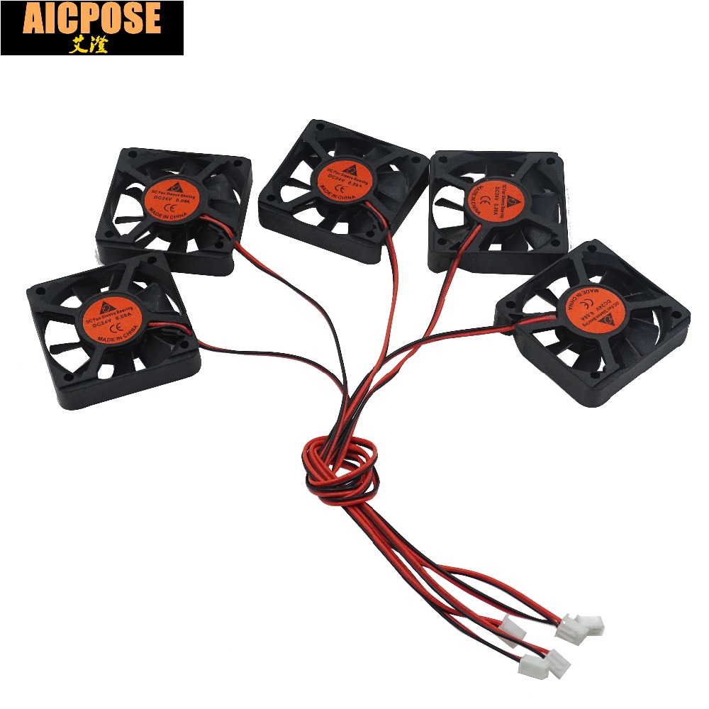 free shipping 5pcs 5x5 Silent fan 12v or 24v and Cable 15cm for use 5x5cm fans <font><b>Led</b></font> <font><b>PAR</b></font> Light Repair <font><b>parts</b></font> image