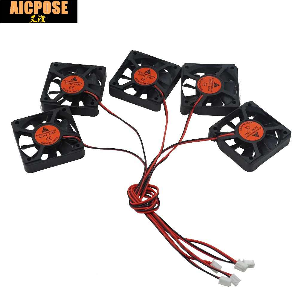 free shipping 5pcs 5x5 Silent fan 12v or 24v and Cable 15cm for use 5x5cm fans Led PAR Light Repair parts