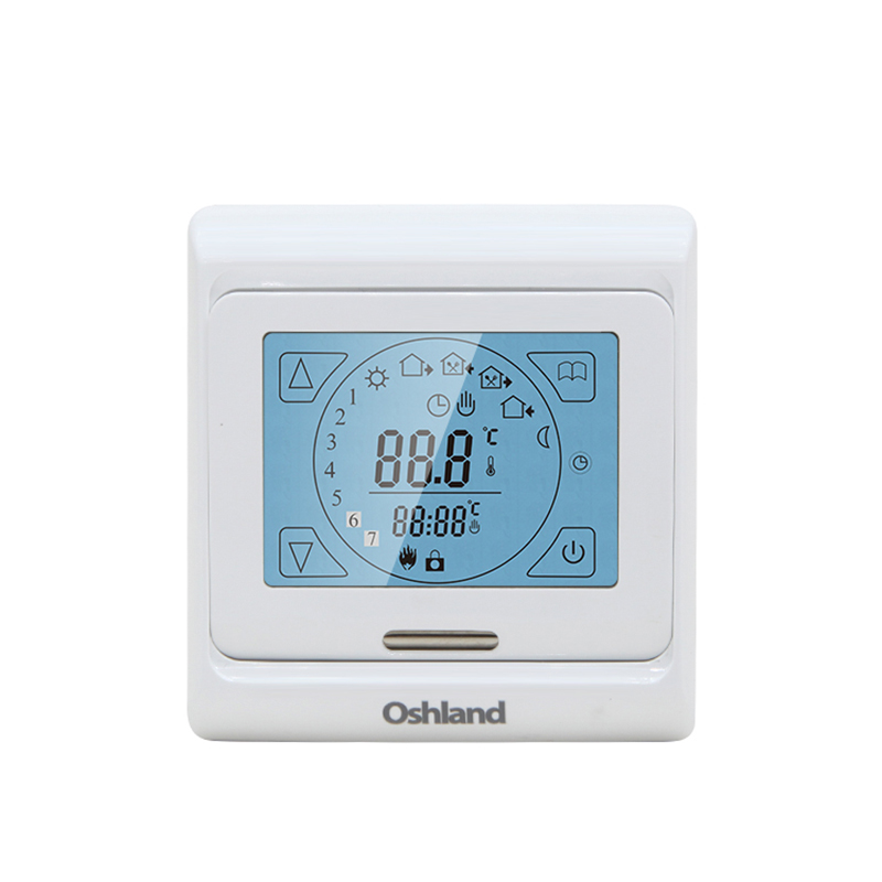 Free Shipping White Color Digital Underfloor Heating Thermostat 16A Weekly Programmable Touch Screen Temperature Controller