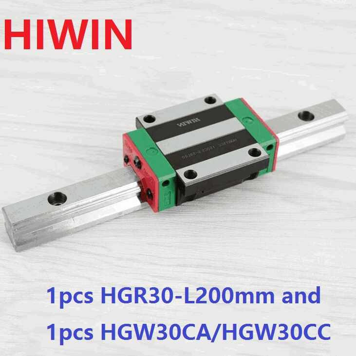 все цены на 1pcs 100% original Hiwin linear rail linear guide HGR30 -L 200mm + 1pcs HGW30CA HGW30CC flange carriage flanged block for cnc онлайн