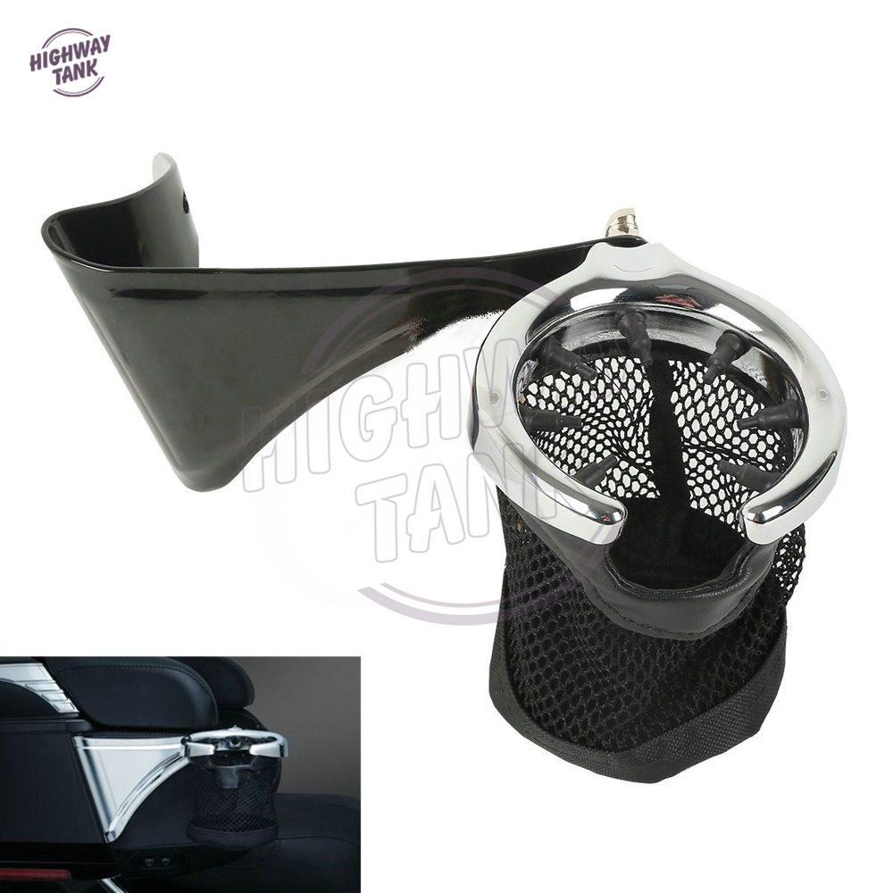 ФОТО Motorcycle Rear Passenger Drink Cup Holder case for Harley Electra Road Tri Glide FLHTCU