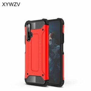 Image 2 - Huawei 명예 20 케이스 shockproof 부드러운 실리콘 갑옷 고무 하드 pc 전화 케이스 huawei 명예 20 다시 커버 명예 20