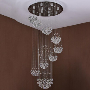 Image 3 - new modern item Dia800*H3000MM large modern hotel chandelier crystal staircase light