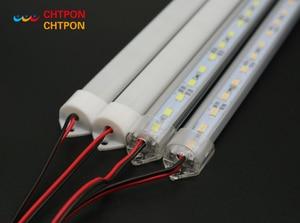 Image 1 - 5 個 * 50 センチメートル工場卸売 DC 12 V SMD 5730 5630 LED ハード剛体ストリップバー照明アルミシェル + pc カバー LED バーライト 5730