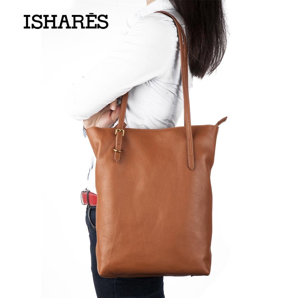 ISHARES new cow leather shoulder bags genuine leather handmade light soft handba
