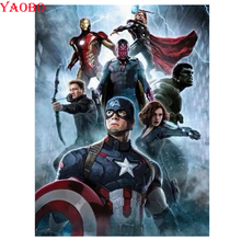 Full Square/Round Drill 5D Diamond Painting Marvel Infinity War Superhero Avengers Embroidery Mosaic Cross Stitch