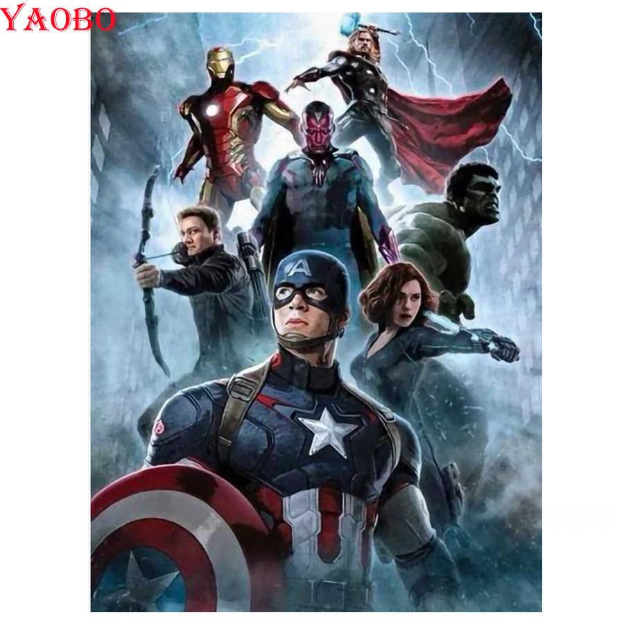 Pieno Quadrato/Rotondo Trapano 5D Pittura Diamante Marvel Infinity Guerra Superhero Avengers Ricamo Mosaico Diamante Punto Croce