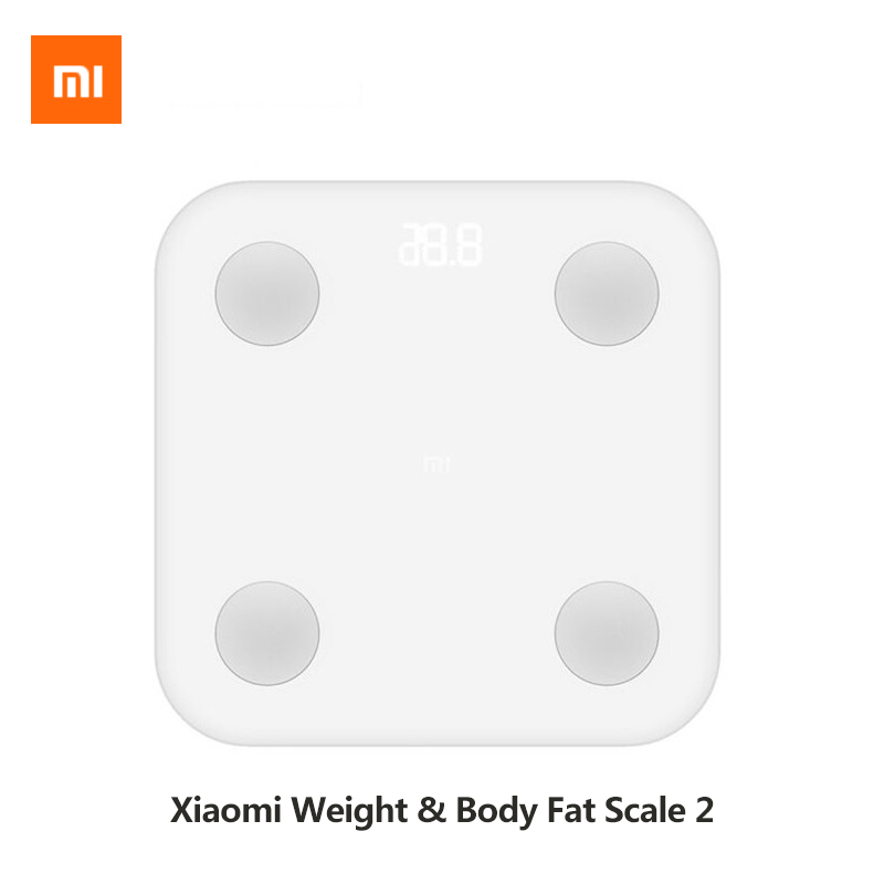 Original Xiao mi mi corps graisse balance intelligente 2 poids salle de bain échelle BMR Test caché LED affichage maison intelligente mi Fit APP contrôle