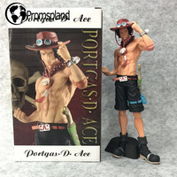 1pc One Piece Ace Action Figures Portgas D Ace Anime Figure Toys One Piece Collectible Model Gifts With Base Retail Box 25cm