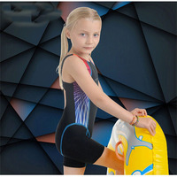 Children's Professional Swimsuit Baby Girl Swimwear Sports Training One Piece Swimsuit
