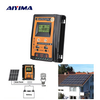 AIYIMA 12V 24V 50A 30A Soalr Charge Controller MPPT Solar Controller Solar Panel Battery Regulator Dual USB LCD Display