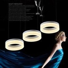 Фотография Original Design Led Round / Square Restaurant  Pendant Light Acrylic Series 3 Lampshades Lamp D50cm LED Chips