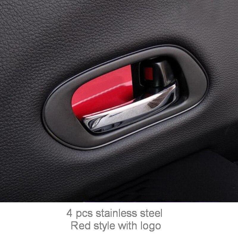 Tonlinker внутренняя дверная ручка чаши крышка наклейка s для HONDA VEZEL HRV-19 автомобильный Стайлинг 4 шт. крышка из нержавеющей стали наклейка - Название цвета: red