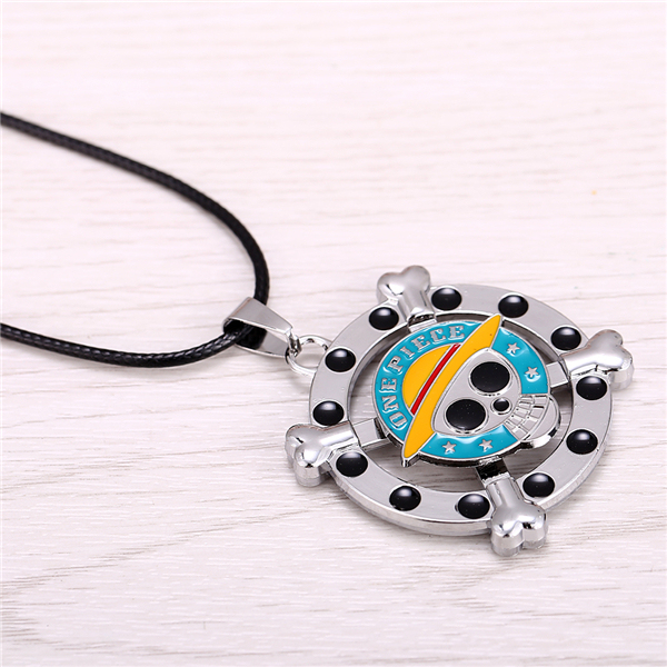 Vintage Anime One Piece Luffy Skull Pendant Hot Rope Chain Necklace Famous Anime Gift