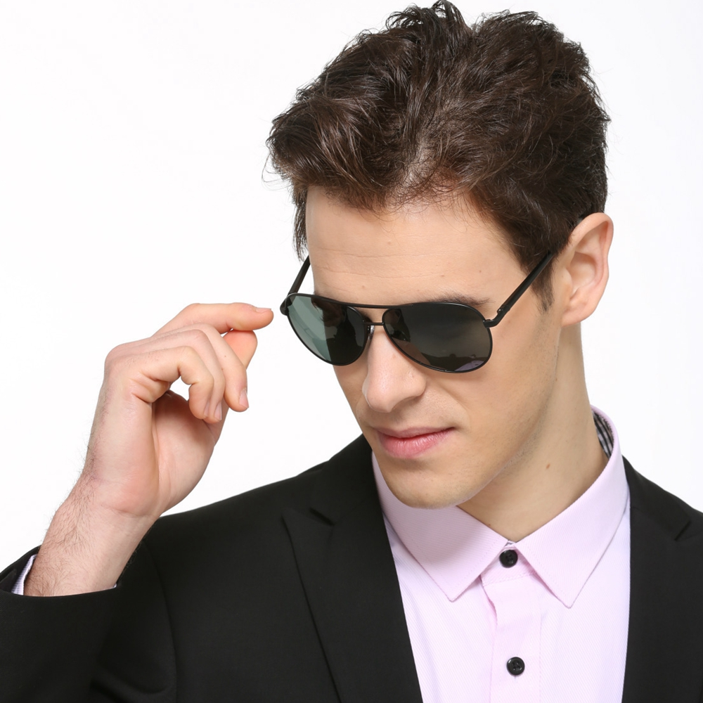 2019 Sunglasses Men Polarized Pilot Style Driving Sunglasses Men Women Sun Glasses Vintage  Oversized Sunglasses PlusSize Pilot 1