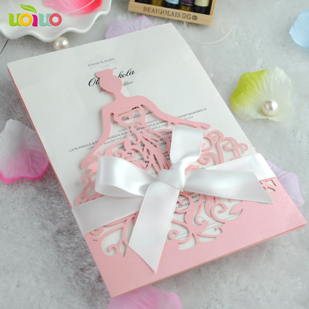 Free shipping birthday party pink ballerina girl invitation cards ...