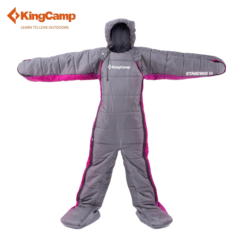 KingCamp Sleeping Bag 170 65 Comfortable Humanoid Sleeping bag outdoor font b camping b font lazy