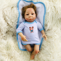 Real Reborn Baby Doll 18Inch Curved Mohair Girl Babies Silicone Newborn Doll Toy and Cute bear baby clothes Kids Playmate gift