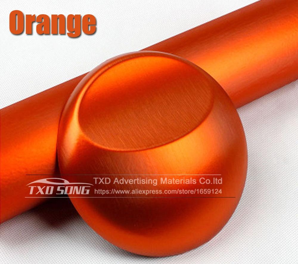 Хорошее качество, хромированная металлическая матовая алюминиевая виниловая металлическая виниловая пленка для отделки автомобиля, наклейка для стайлинга автомобиля, украшение из фольги - Название цвета: orange