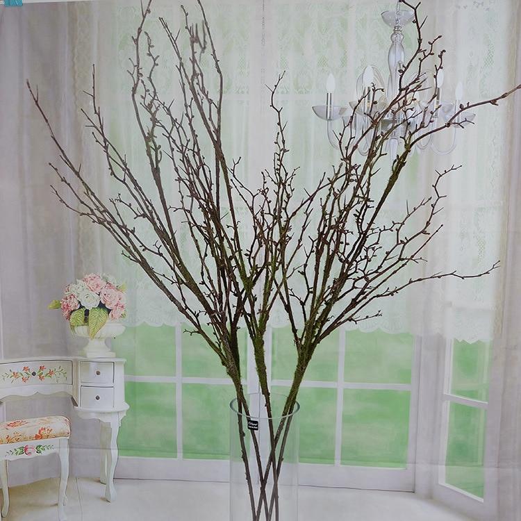 140 см искусственные сухие ветки зеленый белый большой размер ветряные цветы для дома hoteledecoration DIY исходный материал