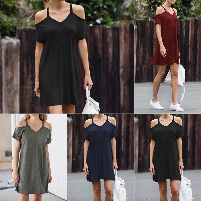 Sexy Women Summer Beach Sleeveless Casual Short Mini Dress Fashion Ladies Sleeve Clothing