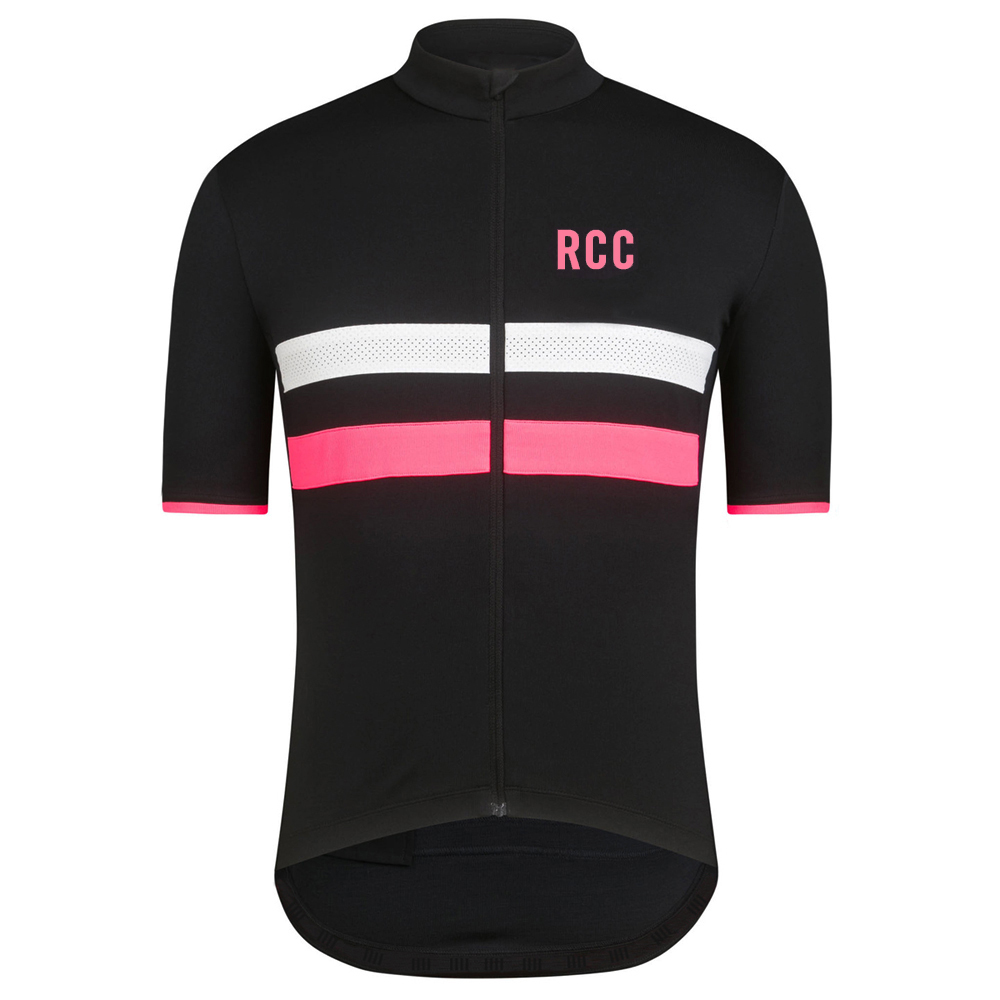 2018 rcc Classic Reflective stripe cycling jersey short sleeve top quality cycling shirt ...