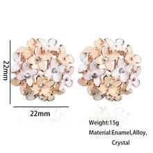 Crystal Flower Clover Earring