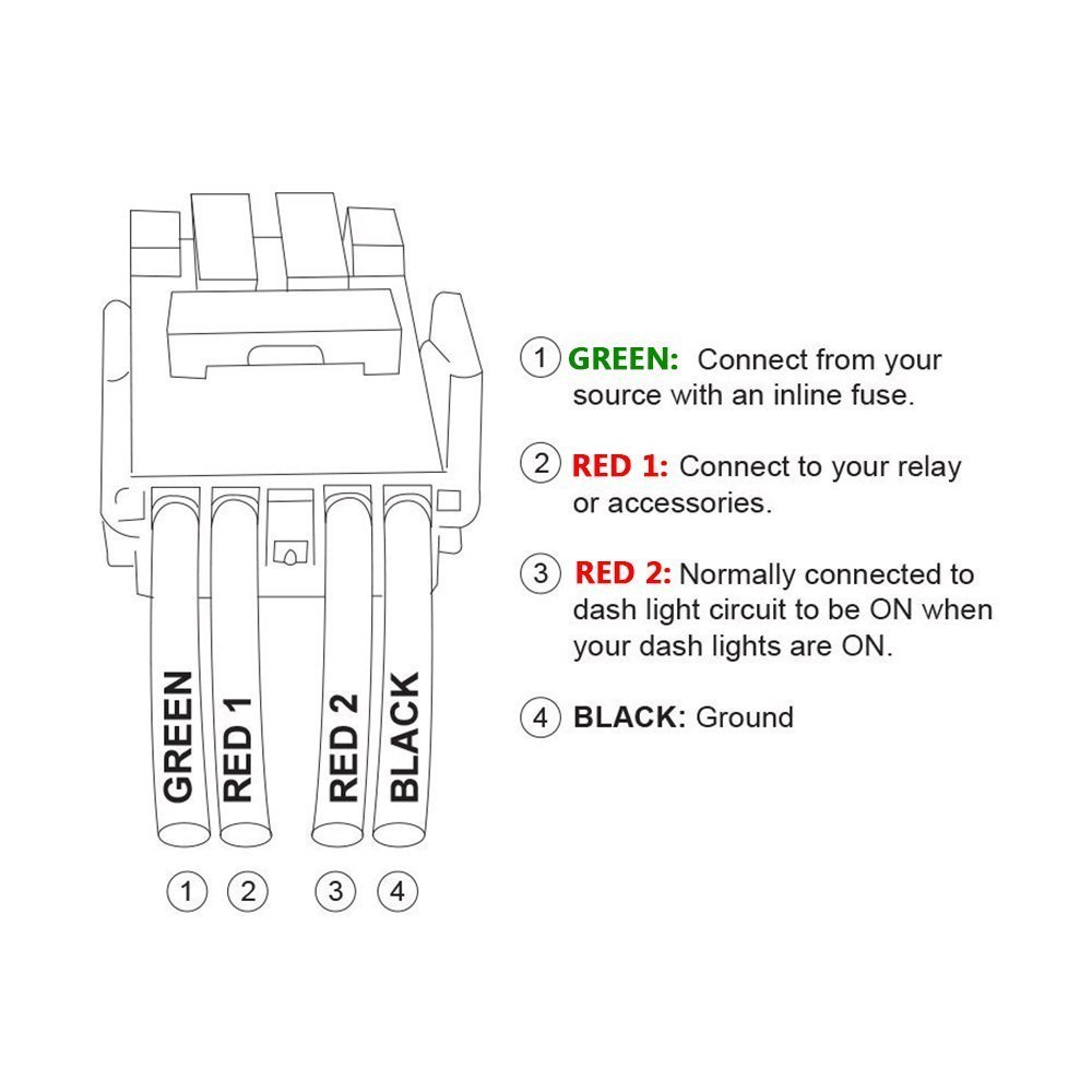 Led Light Bar Push Switch With Connector Wire Kit Bule For 2005 Highlander Wiring Diagram 6 7 5