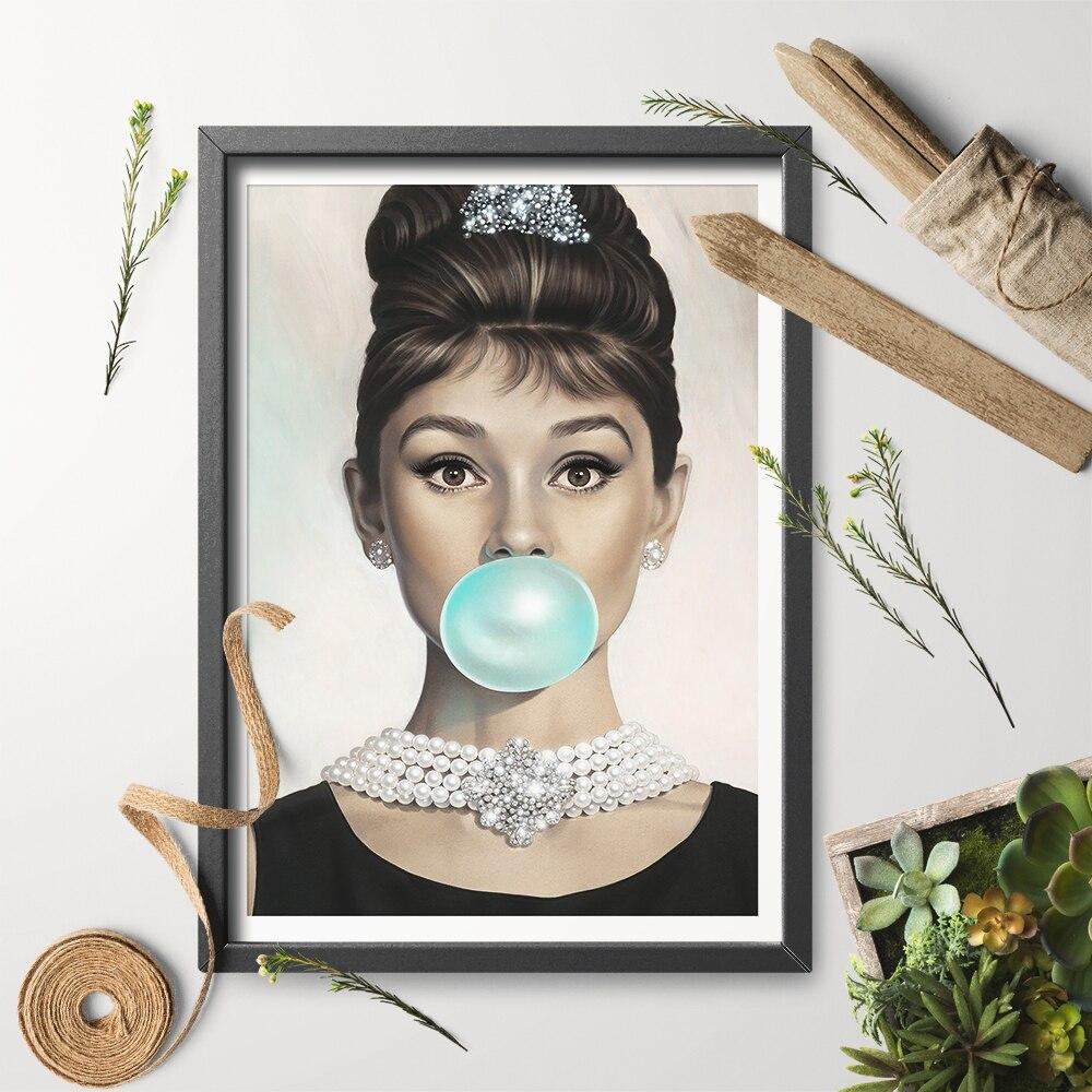 Art Print Poster Canvas Audrey Hepburn