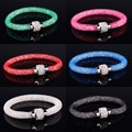 Hot dust net binary Compatible with Pandora bracelets with rock crystal filled magnetic claspa Bracelet