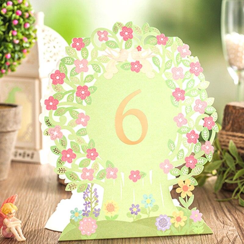 Luxury Green Flower Elegant Laser Paper Event Party Supplies ...