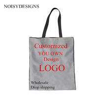 NOISYDESIGNS 3D Personality Customize Women Totes Handbags Female  Environmental Protection Shopping Bags School Girls Cloth Bags c321100b02780