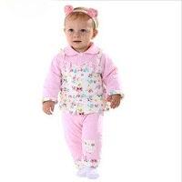 3pcs Set Coat 2Pant 100 Cotton Winter Baby Newborn Baby Girl Clothes Infant Clothing Soft Baby