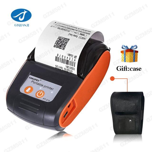 Mini portátil 58mm inalámbrico Bluetooth térmica impresora para teléfono móvil Bill máquina de impresora para tienda