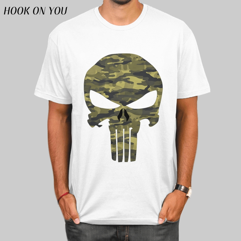 Punisher Skull Camouflage T Shirt New Fitness Compression Shirt Men Anime Superhero Punisher Skull T-Shirt Crossfit camiseta