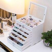 High end jewelry box wooden drawer jewelry box European jewelry storage box