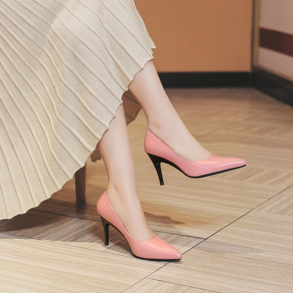 Bimolter High Fashion FOLDABLE 8 5cm Fold 3 5cm Pumps For Women Career Office Party Prom Thin Heels Sexy Elegant Shoes NB055 in Women 39 s Pumps from Shoes