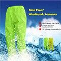 Waterproof Windproof Cycling Rain Pants Running Bike Bicycle Raincoat Pants Outdoor Sports Rain Pants Trousers Jacket Sets