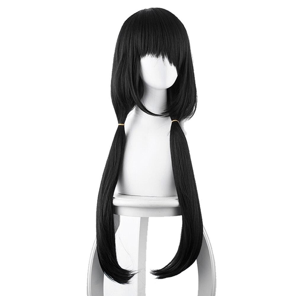 Anime DATE A LIVE Tokisaki Kurumi Wigs Black Hair For Women Tokisaki Kurumi Hair Synthetic Wig Halloween Carnival Prop Costume
