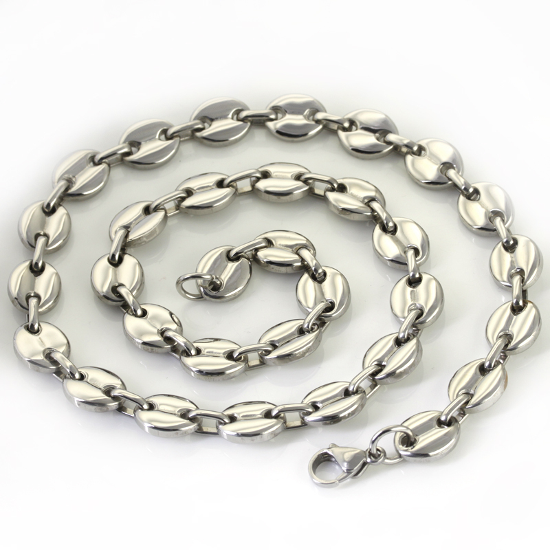 Wholesale Retail! 55cm*11mm 88g New Design Stainless Steel Silver Link Chains Neklace Men/ Boy, Lowest Price Best Quality