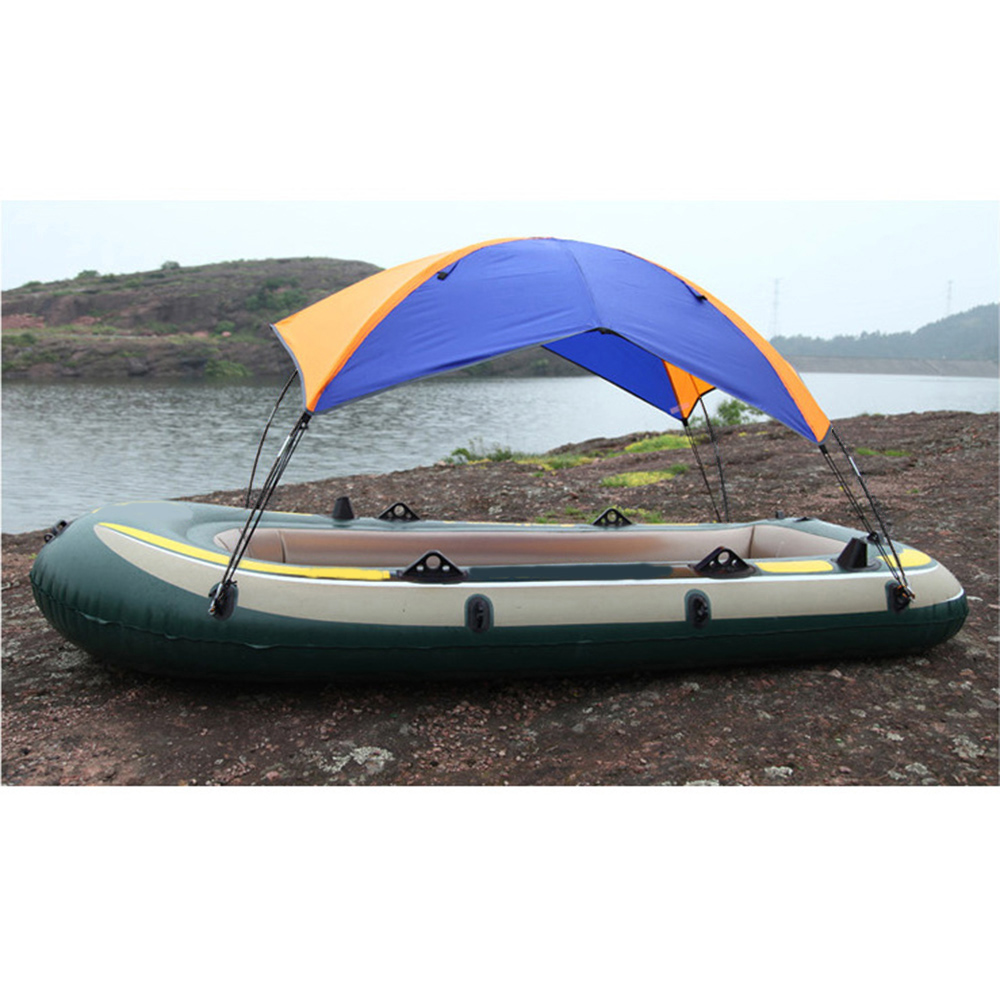 4 personnes gonflables bateau abri soleil voilier auvent couverture supérieure tente de pêche ombre soleil pluie auvent pour Seahawk Kayak gonflable