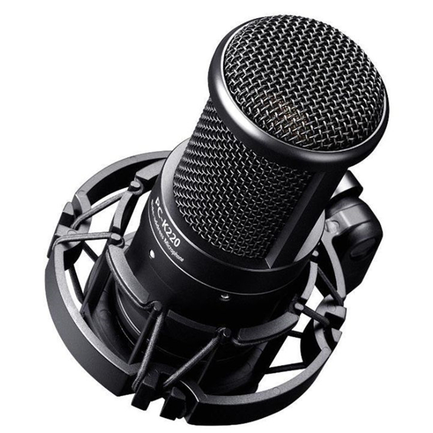 цена на TAKSTAR PC-K220 Professional Studio Condenser Microphone Side-address Microphone Computer Mic for Webcast Network Recording