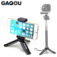 GAQOU Mini Tripod for Smartphone/Phone Holder Stand Tripod Monopod for Gopro 6/Smooth Q/DJI OSMO Portable Collapsible Tripode