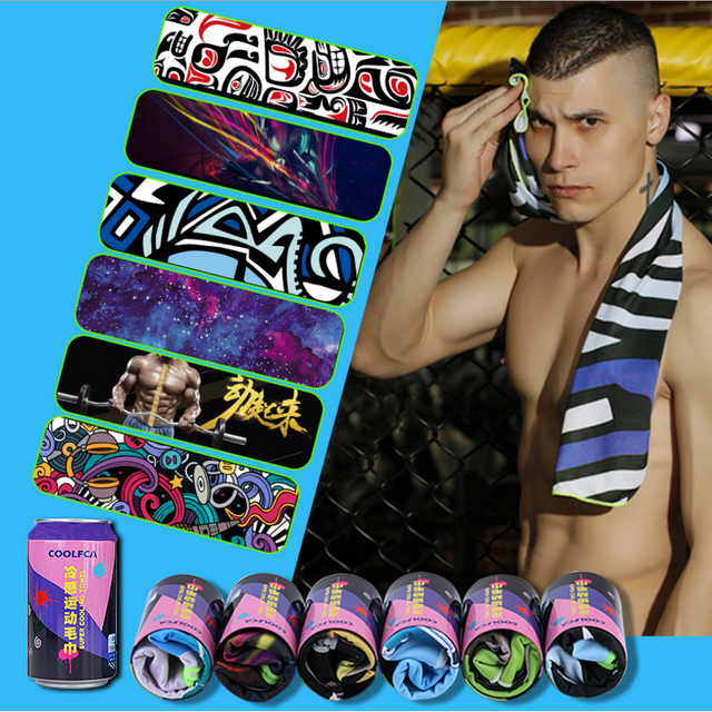 Cooling Towel Toallas Microfibra Sports Towel Printed Cold Towel Packet 100*30cm for Swimming Travel Gym