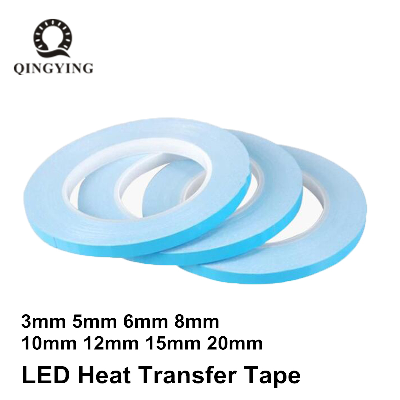 Transfer Tape Double Sided Heat Thermal Conduct Adhesive Tape 3mm 5mm 6mm 8mm 10mm 20mm for LED Module Chip PCB Heatsink CPUTransfer Tape Double Sided Heat Thermal Conduct Adhesive Tape 3mm 5mm 6mm 8mm 10mm 20mm for LED Module Chip PCB Heatsink CPU